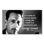 Novelist George Orwell Rectangle Sticker