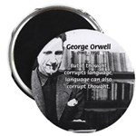 "George Orwell: Language Thought 2.25"" Magnet (100"
