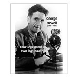 Modern Fable Writer Orwell Small Poster