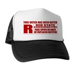 Rated R Red State Conservative Trucker Hat
