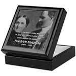 Nietzsche Love Madness Reason Keepsake Box