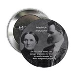 "Man and Woman: Nietzsche 2.25"" Button (10 pack)"