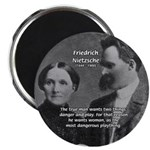 "Man and Woman: Nietzsche 2.25"" Magnet (10 pack)"