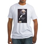 Karl Marx Religion Opiate Masses Fitted T-Shirt