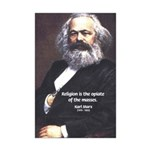 Karl Marx Religion Opiate Masses Mini Poster Print