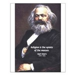 Karl Marx Religion Opiate Masses Small Poster