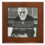 Nobel Prize Physics Lorentz Framed Tile