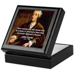 Philosophy John Locke Keepsake Box