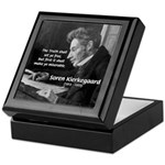 Truth Existentialist Kierkegaard Keepsake Box