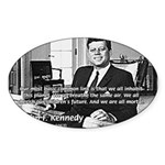 Humanist John F. Kennedy Oval Sticker