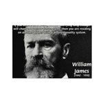 Pragmatic William James Rectangle Magnet