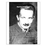 Man / Language: Heidegger Small Poster