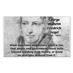 History Lessons Georg Hegel Rectangle Sticker