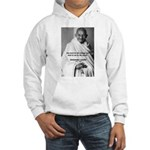 Loyalty to Cause: Gandhi Hooded Sweatshirt