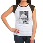 Loyalty to Cause: Gandhi Women's Cap Sleeve T-Shir