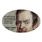 Error of Conformity Galileo Oval Sticker