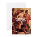Death Nihilism Epicurus Greeting Cards (Package of