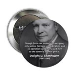 """Peace and Justice Eisenhower 2.25"""" Button (10 pack"""