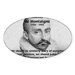 Individual Freedom Montaigne Oval Sticker