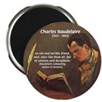 French Poets Baudelaire Magnet