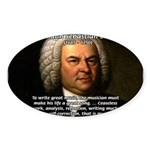 Glory God Music J. S. Bach Oval Sticker