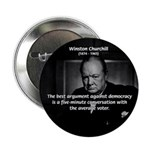 "Sir Winston Churchill 2.25"" Button (10 pack)"