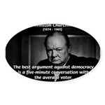 Sir Winston Churchill Oval Sticker