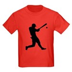 Baseball Player Kids Dark T-Shirt