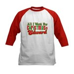 Christmas Edward Kids Baseball Jersey
