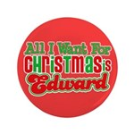 Christmas Edward 3.5&quot; Button (100 pack)