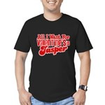 Jasper Valentine Men's Fitted T-Shirt (dark)