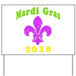Mardi Gras Yard Sign