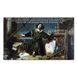 Nicolaus Copernicus Cosmos Rectangle Sticker