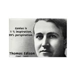 Thomas Edison Inspiration Rectangle Magnet (10 pac