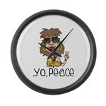 Peace Loving Hippy Large Wall Clock