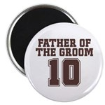 "Uniform Groom Father 10 2.25"" Magnet (100 pack)"