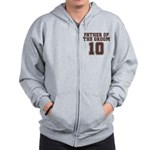 Uniform Groom Father 10 Zip Hoodie