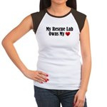 Heart Owning Rescue Lab Women's Cap Sleeve T-Shirt