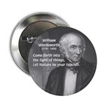 "Nature Wordsworth Poetry 2.25"" Button (100 pack)"