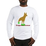 Tripawd Power Three Legged German Shepherd Long Sleeve T-Shirts