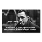 Albert Camus Motivational Rectangle Sticker