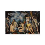 Cezanne Landscape Nude Rectangle Magnet (10 pack)
