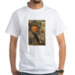 Cezanne Emotion Artistic Quote White T-Shirt