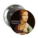 "Leonardo da Vinci Pleasure 2.25"" Button (100 pack)"