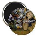 "Degas Difficulty of Painting 2.25"" Magnet (100 pac"