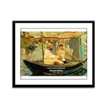 French Painter Manet Quote Framed Panel Print