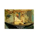 French Painter Manet Quote Rectangle Magnet (10 pa