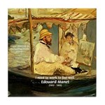 French Painter Manet Quote Tile Coaster
