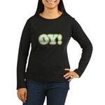 Christmas Oy! Women's Long Sleeve Dark T-Shirt