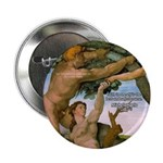 "Sistine Chapel Adam & Eve 2.25"" Button (100 pack)"